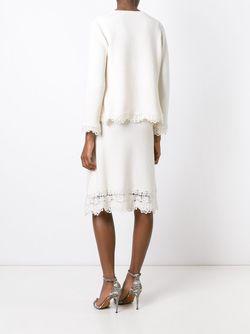 Трикотажный Костюм-Тройка Chanel Vintage                                                                                                              белый цвет