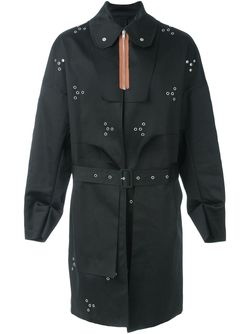 Пальто С Контрастной Застежкой-Молнией Raf Simons                                                                                                              чёрный цвет