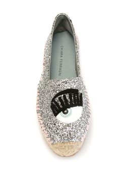 Flirting Glitter Espadrilles Chiara Ferragni                                                                                                              серебристый цвет