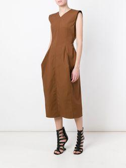 Платье Wasp Calpurnia Rick Owens                                                                                                              коричневый цвет