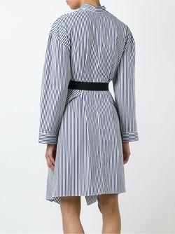 Полосатое Платье-Рубашка Maison Rabih Kayrouz                                                                                                              синий цвет