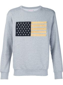 Flag Embroidery Sweater PALM ANGELS                                                                                                              серый цвет