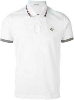 Logo Polo Shirt Moncler                                                                                                              белый цвет