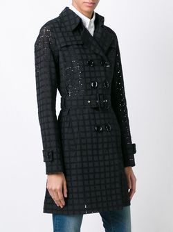 Double Breasted Belted Coat Herno                                                                                                              чёрный цвет