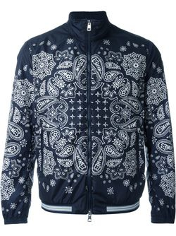 Paisley Print Windbreaker Jacket Moncler                                                                                                              синий цвет