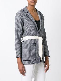 Belted Knit Jacket Bark                                                                                                              синий цвет