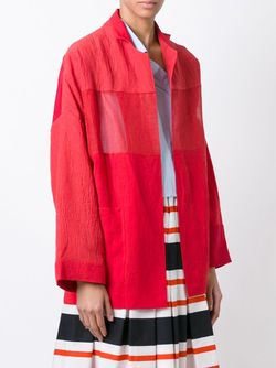 Semi Sheer Panel Oversized Jacket DANIELA GREGIS                                                                                                              красный цвет