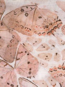 Butterfly Print Farfalline Scarf Faliero Sarti                                                                                                              розовый цвет