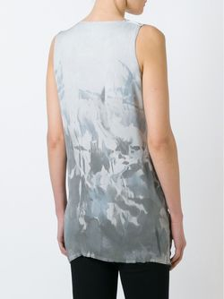 Printed Draped Top Masnada                                                                                                              серый цвет