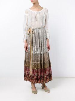 Margot Pleated Silk Midi Skirt Etro                                                                                                              многоцветный цвет