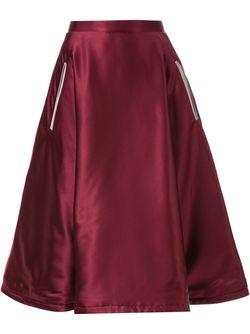 Dagger Embroidered Full Skirt MURRAL                                                                                                              красный цвет