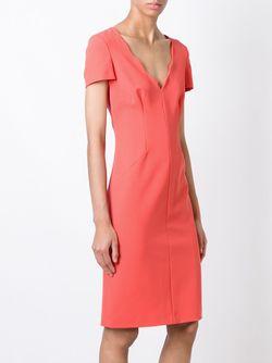 Scalloped V-Neck Dress Emporio Armani                                                                                                              розовый цвет