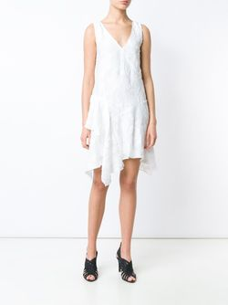Textured Ruffle Detail Dress Derek Lam 10 Crosby                                                                                                              белый цвет