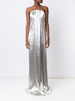 Вечернее Платье Без Бретелек Monse                                                                                                              серебристый цвет