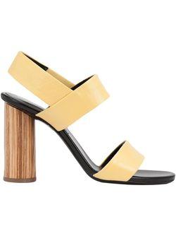 Chunky Heel Sandals Proenza Schouler                                                                                                              желтый цвет