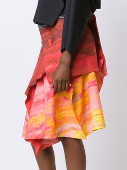 Colour Block Wrap Tie Asymmetric Shirt Issey Miyake                                                                                                              красный цвет