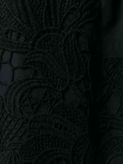 Crochet Detail Mini Dress P.A.R.O.S.H.                                                                                                              синий цвет