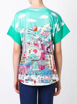 25th Anniversary Print Relaxed Fit T-Shirt Tsumori Chisato                                                                                                              зелёный цвет