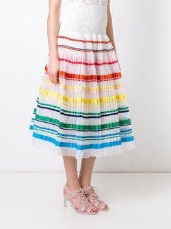 Striped Pleated Skirt SI-JAY                                                                                                              белый цвет