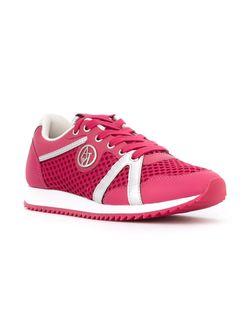 Перфорированные Кроссовки ARMANI JEANS                                                                                                              розовый цвет