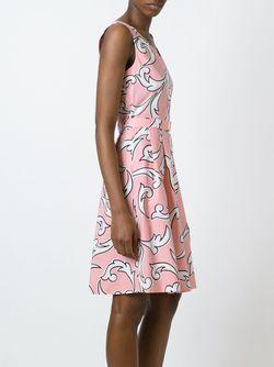 Arabesque Print Belted Dress BOUTIQUE MOSCHINO                                                                                                              розовый цвет