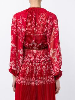 Josephine Pleated Print Blouse Etro                                                                                                              красный цвет