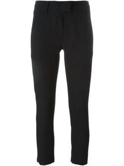 Cropped Skinny Trousers Ann Demeulemeester                                                                                                              черный цвет