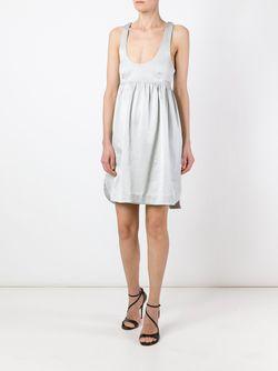 Платье Со Скрещенными Лямками На Спине Pascal Millet                                                                                                              серый цвет