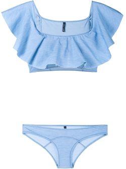 Mira Bandeau Bikini Lisa Marie Fernandez                                                                                                              синий цвет