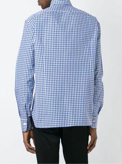 Gingham Check Shirt Kiton                                                                                                              синий цвет
