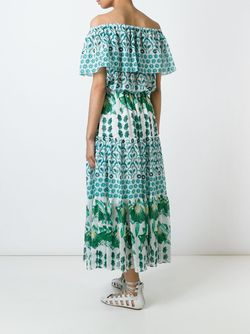 Honor Florrie Midi Dress Temperley London                                                                                                              зелёный цвет