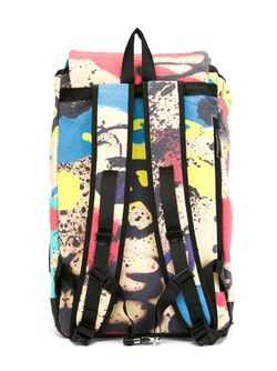 Graffiti Print Backpack Ktz                                                                                                              черный цвет