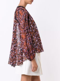 Print Sierra Scalloped Contrast Neck Relaxed Fit Giambattista Valli                                                                                                              чёрный цвет