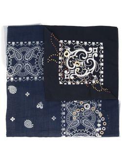 Paisley Print Scarf Sacai                                                                                                              синий цвет
