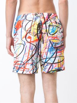 Scribble Print Swim Shorts Jeremy Scott                                                                                                              белый цвет