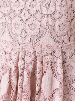 Lace Flared Dress Burberry London                                                                                                              розовый цвет