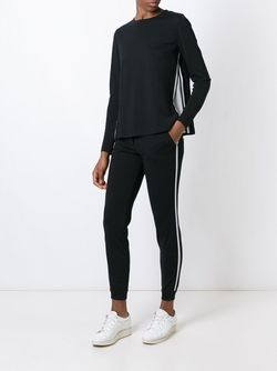 Contrasting Side Trim Pants Akris                                                                                                              чёрный цвет