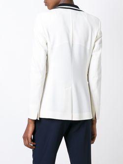 Contrasting Lapel Blazer Akris                                                                                                              белый цвет