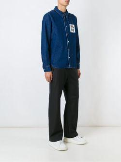 Джинсовая Рубашка Raf Simons                                                                                                              синий цвет