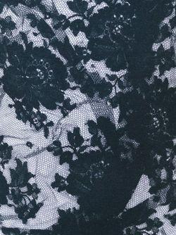 Платье Миди С Принтом Кружева Mcq Alexander Mcqueen                                                                                                              черный цвет