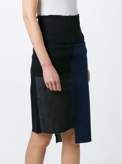 Джинсовая Юбка С Панельным Дизайном Aries                                                                                                              черный цвет