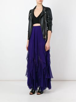 Ruffled Long Skirt Plein Sud                                                                                                              синий цвет