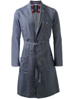 Однобортное Пальто С Поясом GUILD PRIME                                                                                                              синий цвет