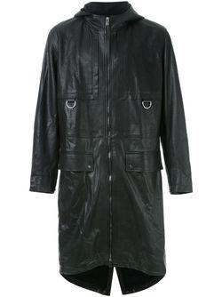 Hooded Coat Drome                                                                                                              черный цвет