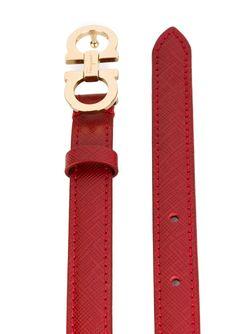 Тонкий Ремень С Логотипом Salvatore Ferragamo                                                                                                              красный цвет
