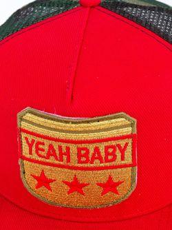 Yeah Baby Flat Cap Saint Laurent                                                                                                              красный цвет