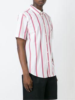 Полосатая Рубашка Obey                                                                                                              белый цвет