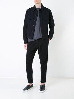 Джинсовая Куртка Bassike                                                                                                              черный цвет