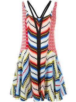 Chevron Dress Kenzo                                                                                                              многоцветный цвет