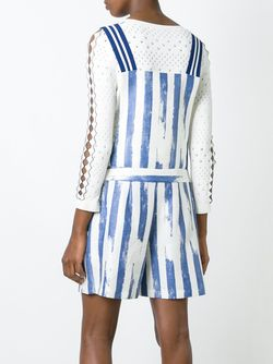 Striped Print Playsuit Cristiano Burani                                                                                                              синий цвет